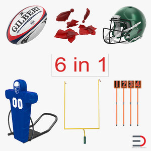 football equipment rugby ball 3d model