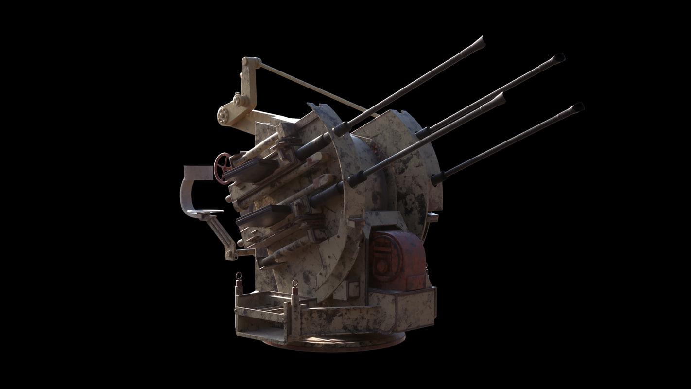 german ww2 gun 3d max