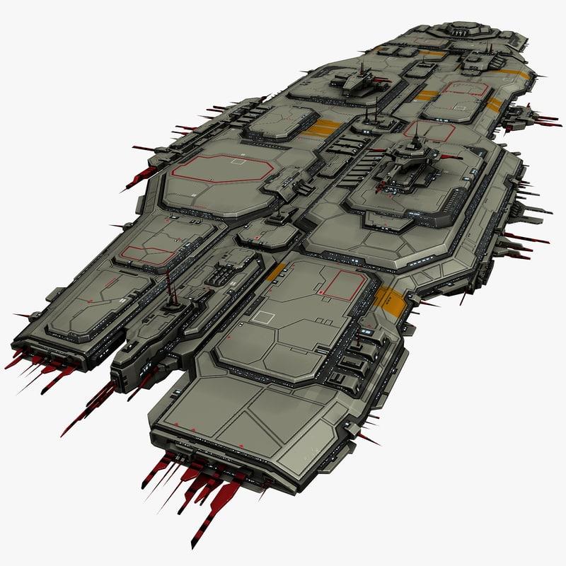 starship 3d 3ds
