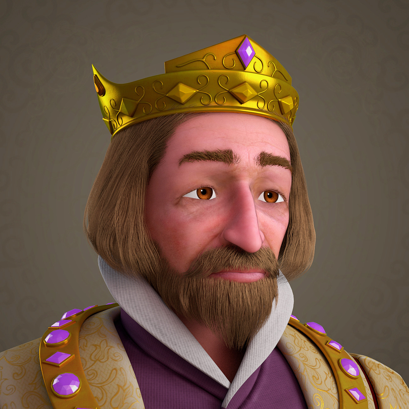 3d model cartoon king