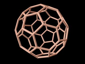 3d model 0002 8-grid truncated icosahedron