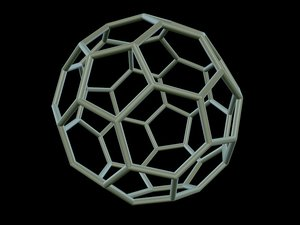 3d model 0006 8-grid truncated icosahedron
