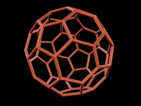 3d model 0004 8-grid truncated icosahedron