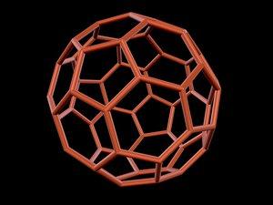 3d model 0004 8-grid truncated icosahedron