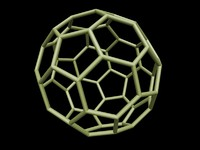 0008 8-grid truncated icosahedron 3d obj