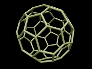 0008 8-grid truncated icosahedron 3d obj