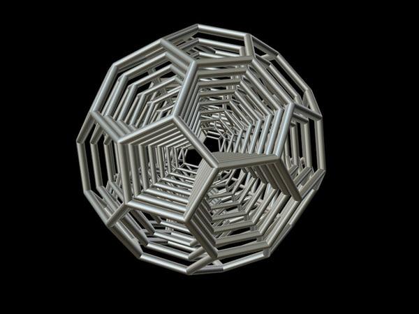 3d model 0009 8-grid truncated icosahedron