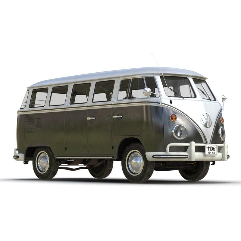 3ds max volkswagen type 2 black