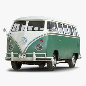 3ds volkswagen type 2 green
