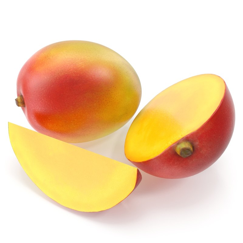 3d model mango photorealistic