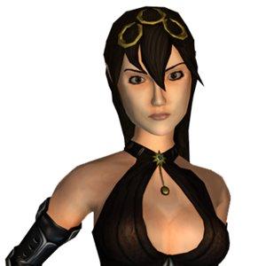 character female elf assassin 3d model