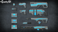 fbx sci-fi weapons pack