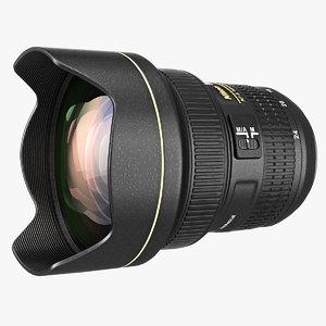 lens 14-24mm f2 8g 3d model