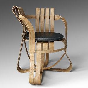 cross check chair 3d model