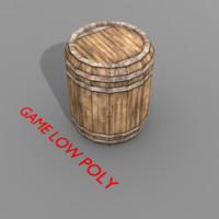 Medieval wooden barrel