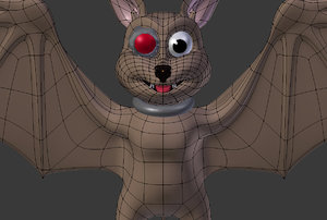 cartoon bat 3d obj