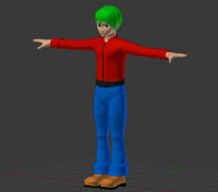 male character 3d obj