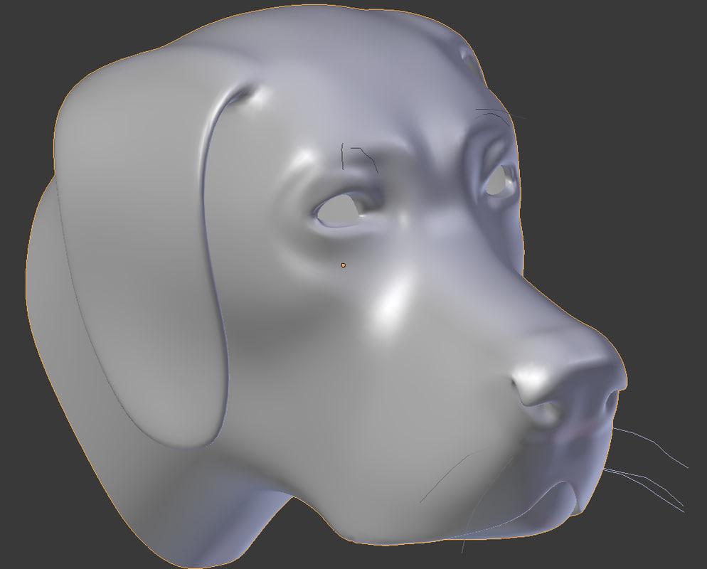 free obj model dog head