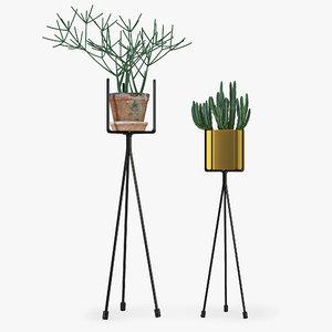3d model shelf plants