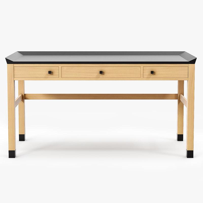 3d obj sidelines writing desk ted
