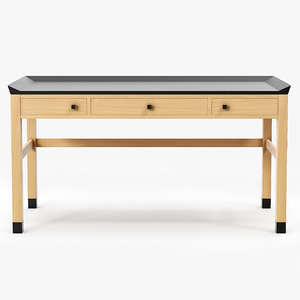 3d obj sidelines writing desk ted