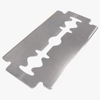 3d model razor blade