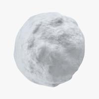3d snowball 03 model