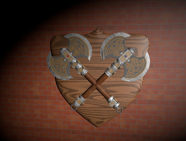 medieval axe c4d