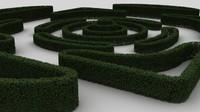 3d model of bush wall modular