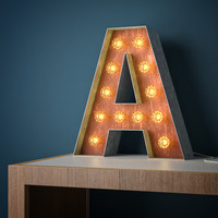 Metal light letter