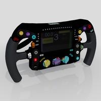 3d formula steering wheel model