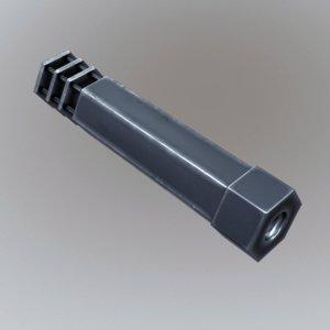 silencer 3d model