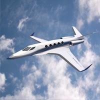 blender concept aircraft futuristic
