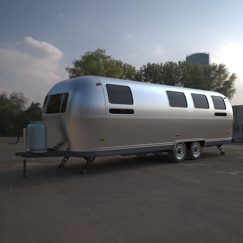 3ds max airstream caravan trailer