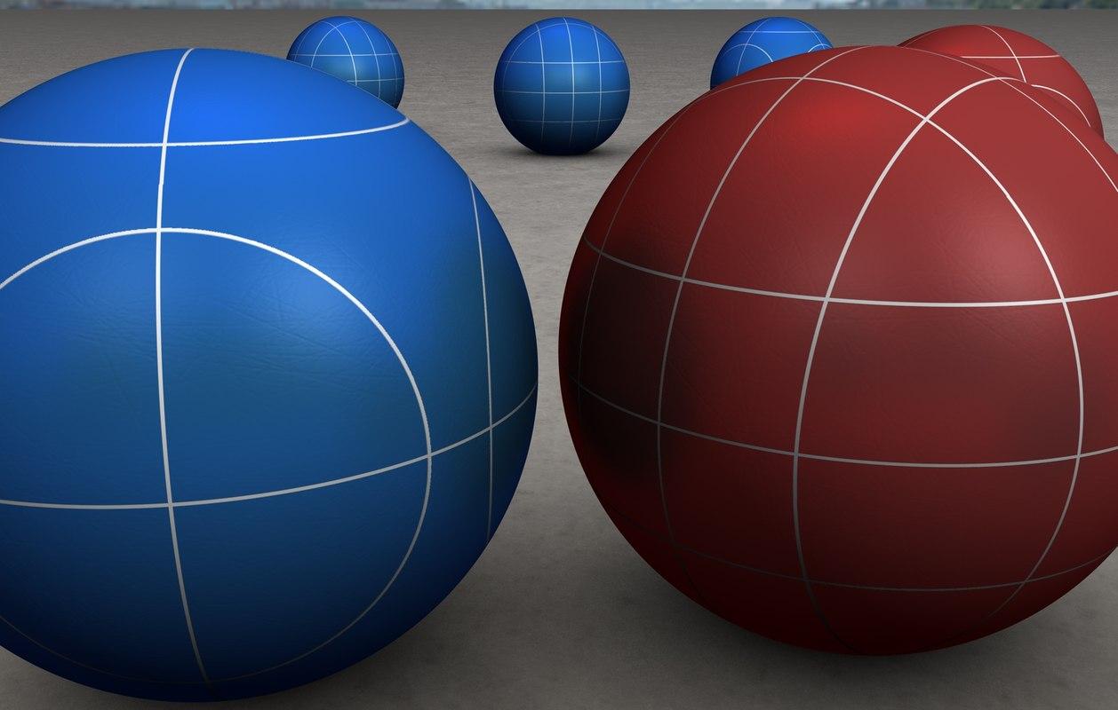 3d bocce balls