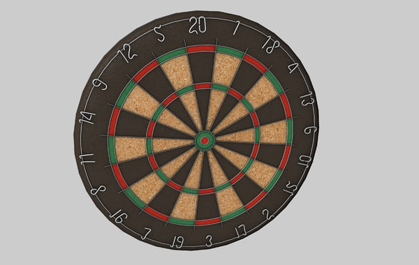 3d model dartboard dart