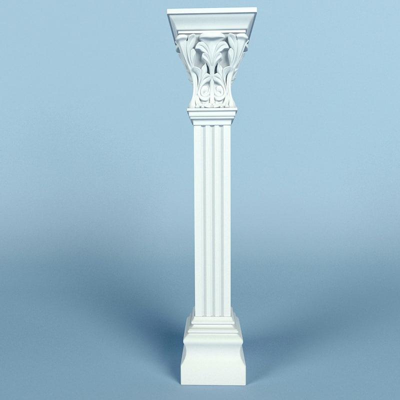 3d model column petergof ka72
