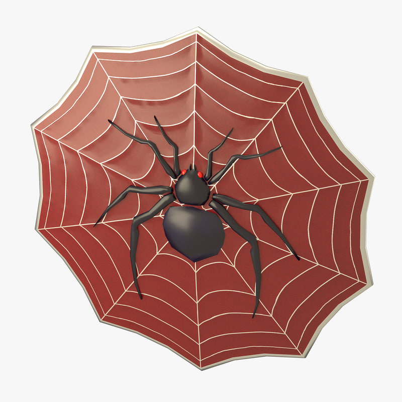 spider decorated shield 3d model