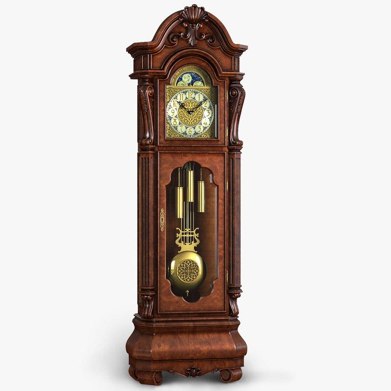 antique clock 3d model
