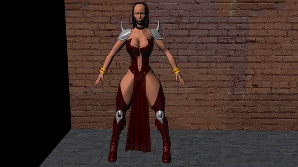 woman devil obj free