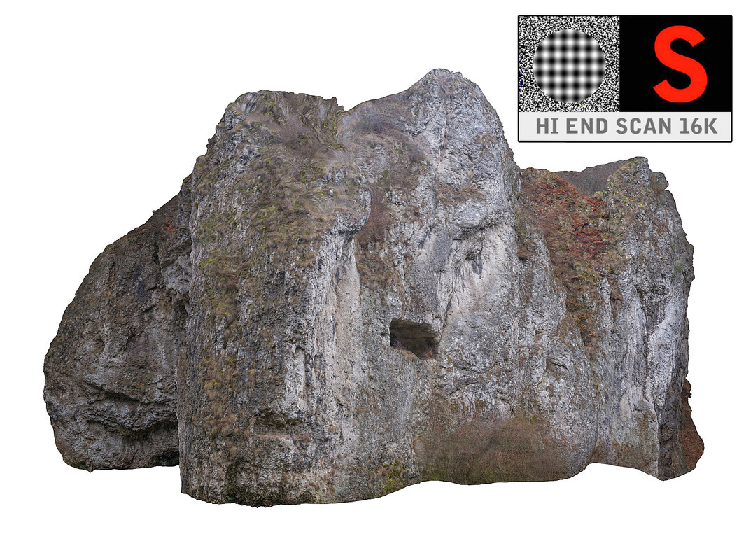 mountain cliff hd obj