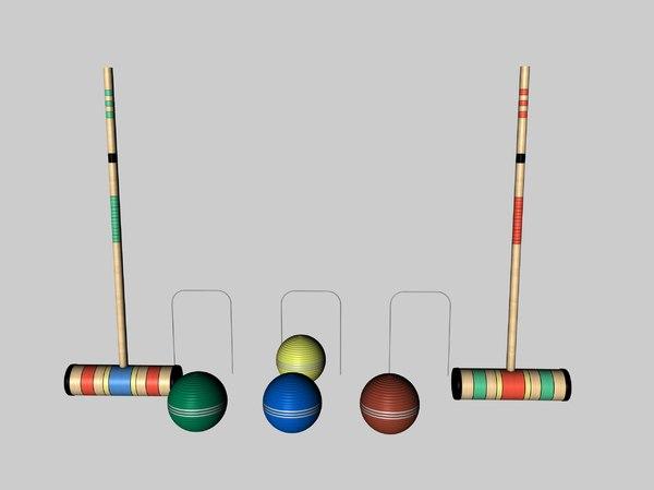 3d croquet balls model
