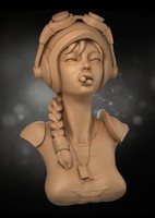 stylized female 3d model