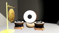 chinese drum 3d ma