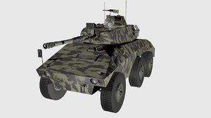 armored cascavel c4d