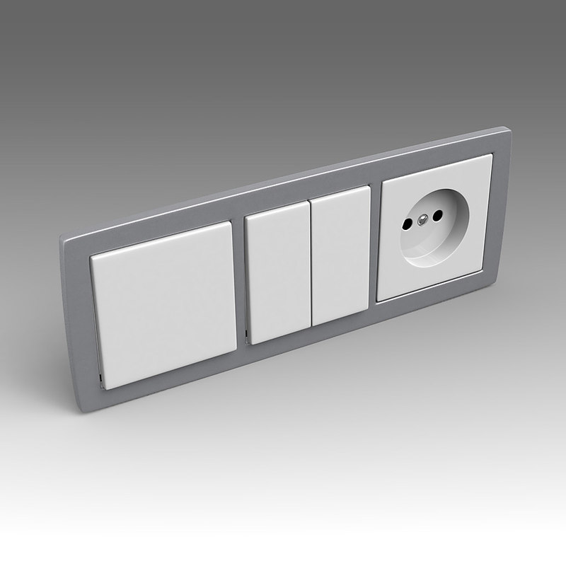 3d x electrical switch outlet