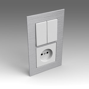 3dsmax electrical switch outlet
