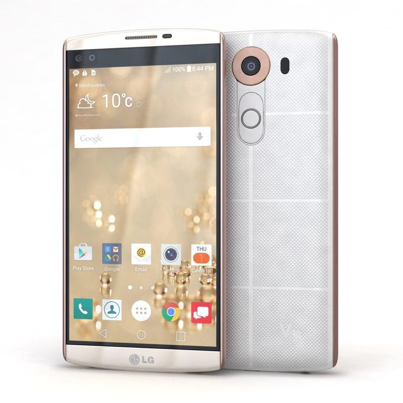 3d model of lg v10 luxe white