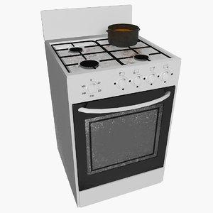 gas-range gas 3d model