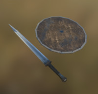 Low Poly Medieval weapon